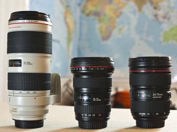 Rent: Canon L Series Zoom Lens Kit (16-35, 24-70, 70-200)