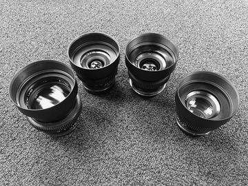 Rent: EF mount Contax Zeiss Prime set (28mm, 35mm, 50mm, 85mm)
