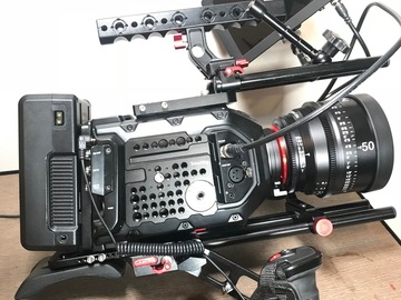 Rent: Blackmagic URSA Mini 4.6K W/ should kit + glass CF card