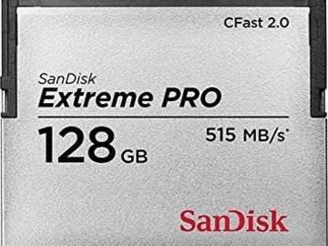 Rent: Sandisk Extreme Pro 128GB 515/MB/s CFast 2.0 Memory