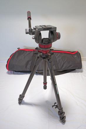Manfrotto MVH502AH Fluid Video Head & 755XB Aluminum Tripod