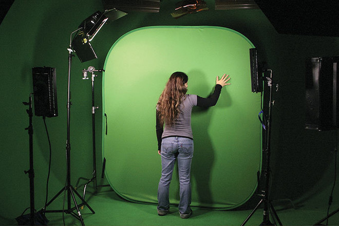 Collapsible Green Screen/Chroma Background - 8 x 16'