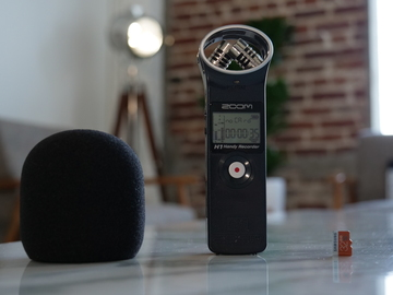Rent: Zoom H1 Handy Audio Recorder w/Pop Filter