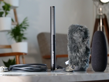 Rent: Sennheiser MKE 600 Shotgun Microphone w/ Filters