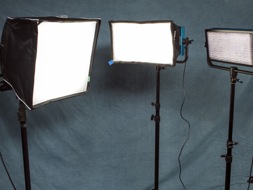 Rent: LED 3 Light Interview Kit w/V-Mount Batteries