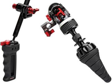 Double Handgrip & Follow Focus System For 15mm Rod Shoulder-