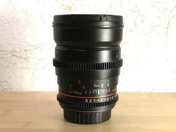 Rent: Rokinon Cine 24mm T1.5 EF mount