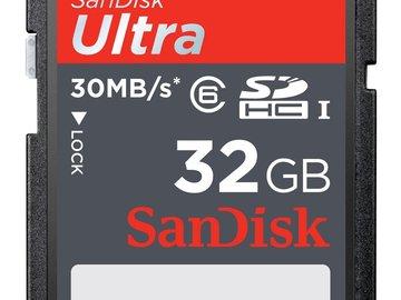 Rent: 32GB SDHC Cards (6)