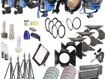 Rent: Arri + Kino flo light kit. 5 lights and stands
