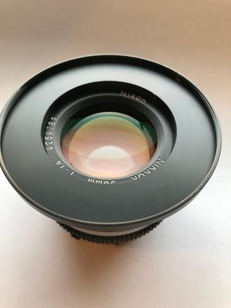 Nikon Vintage 50mm 1.4 Lens with 77mm Filter ring