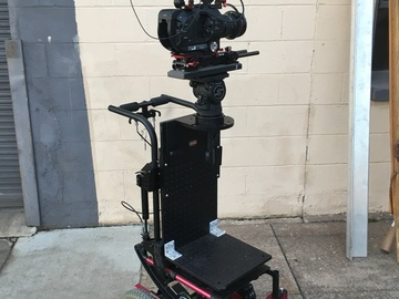 Rent: Tilting Camera Dolly 504 holes, 3 Cheese Plates w/foot brake