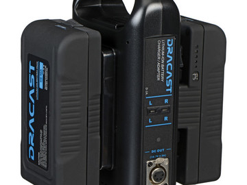 Rent: Dracast Dual Charger with Three 90Wh Gold Mount Batteries