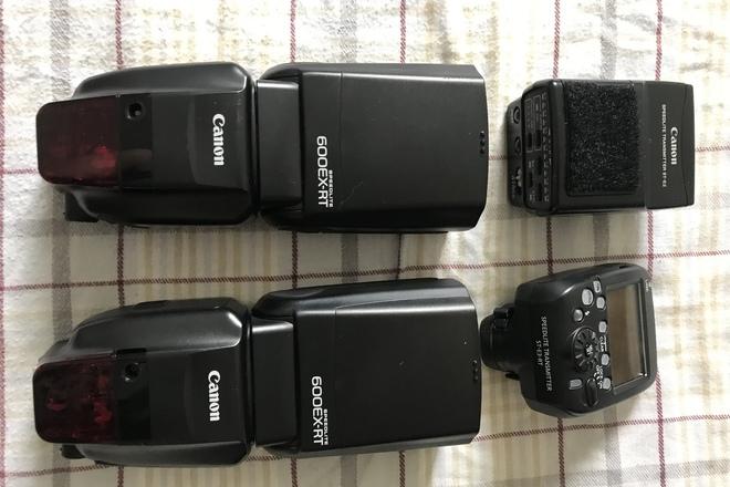 2X Canon Speedlite 600EX-RT huge kit