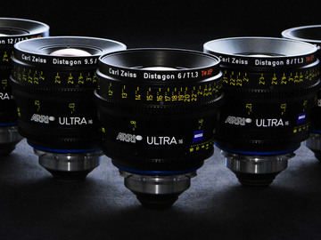 Rent: Zeiss Ultra Prime Lens Kit(T1.9 16,24,32,50,85mm)