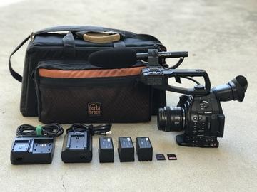 Rent: Canon C100 Mark II w/ EF 35mm f/2 IS USM Lens, and Mic