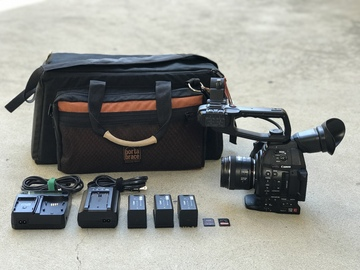 Rent: Canon C100 Mark II w/ EF 35mm f/2 IS USM Lens, 3x Batteries