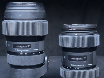 Rent: Sigma ART Zoom f1.8 Kit (18-35mm / 50-100mm) w/ 0.8 pitch