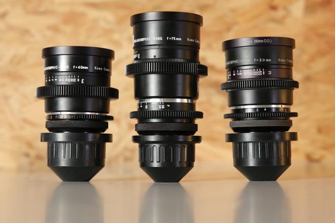 Kowa Prominar Anamorphics - Set of three -  40mm, 50mm, 75mm