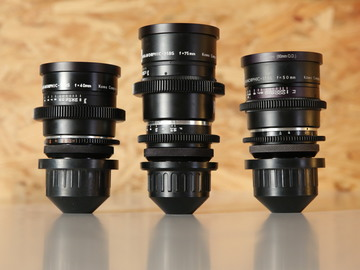Kowa Prominar Anamorphics - Set of three -  40mm, 50mm, 75mm