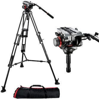 Manfrotto 504HD Tripod, fluid head, mid-lvl spread (2 avail.