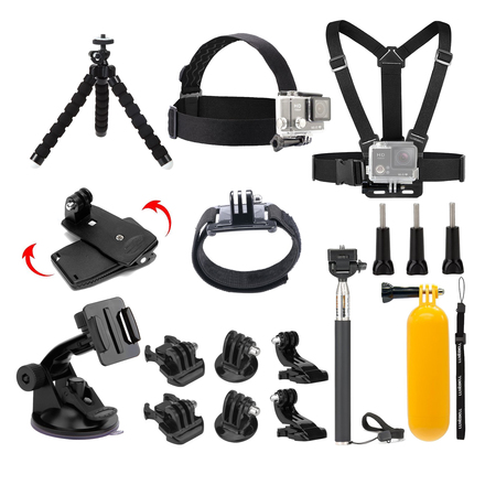 Accessories Kit for GoPro Hero, Session, Akaso Action Camera