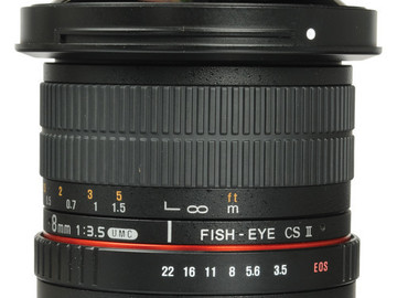 Rent: Rokinon 8mm f/3.5 for Canon Removable Hood