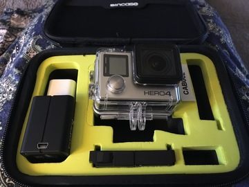 Rent: GoPro Hero4 Black w/ BacPac, Case, Accessories, 64G MicroSD