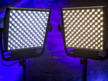 LitePanels Astra X4 Bi-Color 1x1 LED w/Chimera Bank