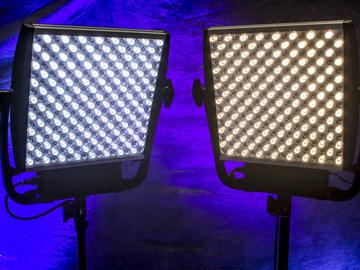 LitePanels Astra X6 Bi-Color 1x1 LED  w/Chimera Bank