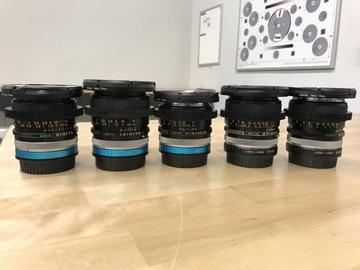 """Rent: Canon Vintage FD SSC """"Cine"""" Five Lens Set (EF and E Mount)"""