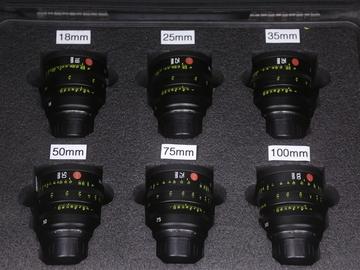Leica Summicron-C T2.0 Lens Set (18, 25, 35, 50, 75, 100mm)