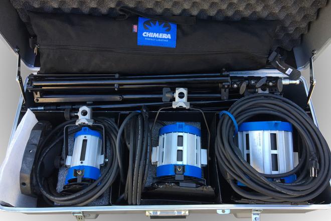 ARRI 650w, 300w, 150w Fresnel Kit w/ Softbox