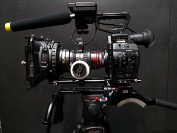 Rent: Canon C300 PL Mount w/ shoulder rig and studio bridgeplate