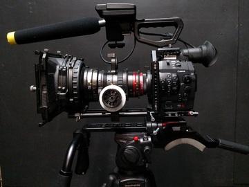Rent: Canon C300 PL Mount w/ shoulder rig and studio bridgeplate