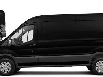 Rent: 2015 BLACK FORD TRANSIT HIGH ROOF CARGO VAN