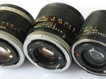 Rent: Vintage FD canon glass
