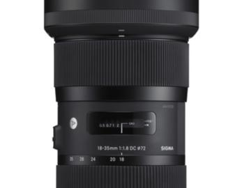 Rent: Sigma 18-35mm f/1.8 DC HSM Art Canon EF Mount