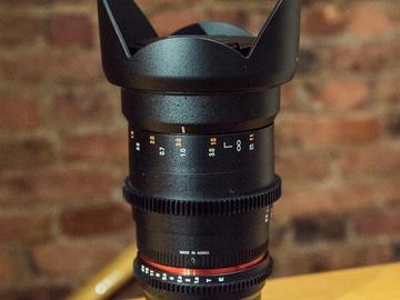 Rokinon 35mm T1.5 Cine lens/E-mount for Sony