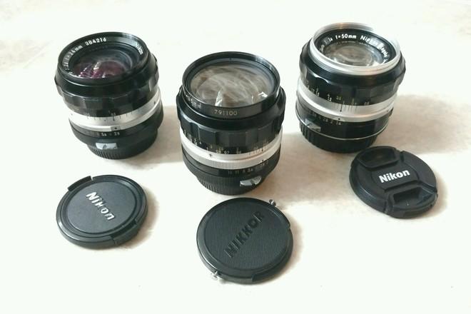 Vintage Nikkor Primes w/ EF - 24mm, 35mm & 50mm Non AI Set