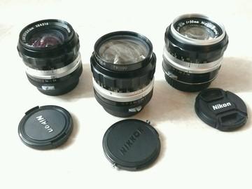 Rent: Vintage Nikkor Primes w/ EF - 24mm, 35mm & 50mm Non AI Set