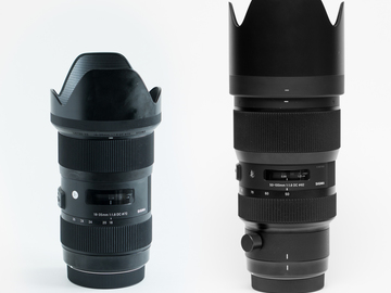 Sigma 18-35mm f1.8 & 50-100 f/1.8 - Canon Kit