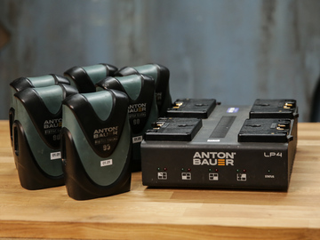 Rent: Anton Bauer Digital 90 6-pack with Quad Charger
