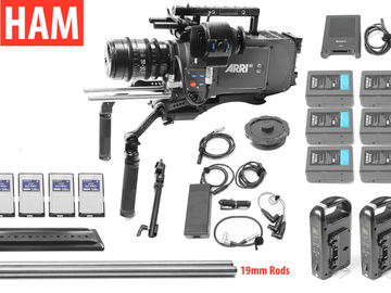 Rent: ARRI Alexa EV Classic, Sigma T2 18-35mm Cine Lens, (4) 128GB