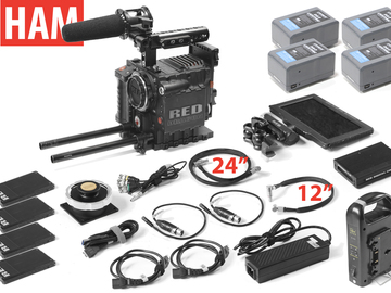"Rent: RED Epic Dragon 6K (Canon EF or PL) 7"" Touch, (4) 256GB"