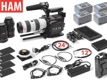 Rent: RED Epic Dragon 6K, Canon EF 24-70, 16-35, 70-200, (4) 256GB