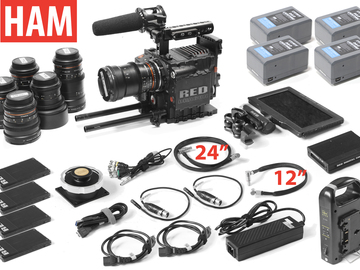 "Rent: RED Epic Dragon 6K, (6) Rokinon Lenses, 7"" Touch, (4) 256GB"