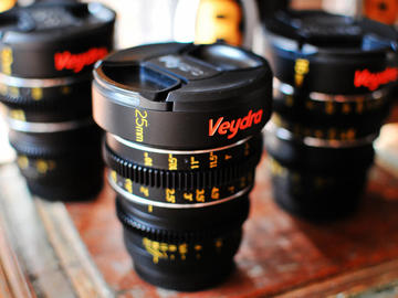 Rent: Veydra lens (16mm, 25mm, or 50mm)