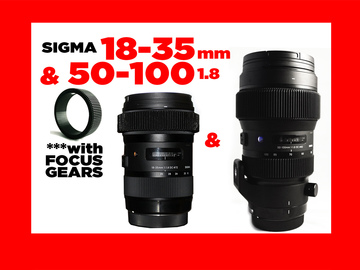 Rent: Sigma 18-35mm & 50-100mm  f/1.8 EF w/Focus Gears
