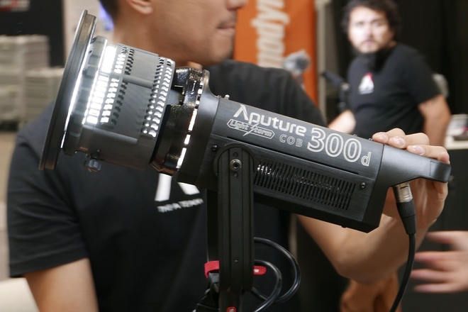 Aputure 300d w/ fresnel (2X available) & stand