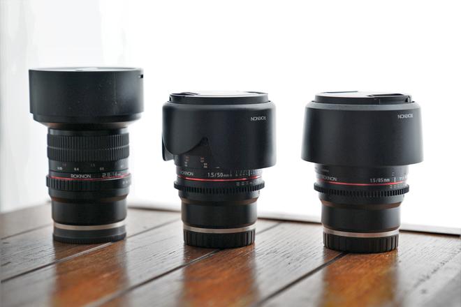 Rokinon E Mount Lenses - 14mm, 50mm, 85mm